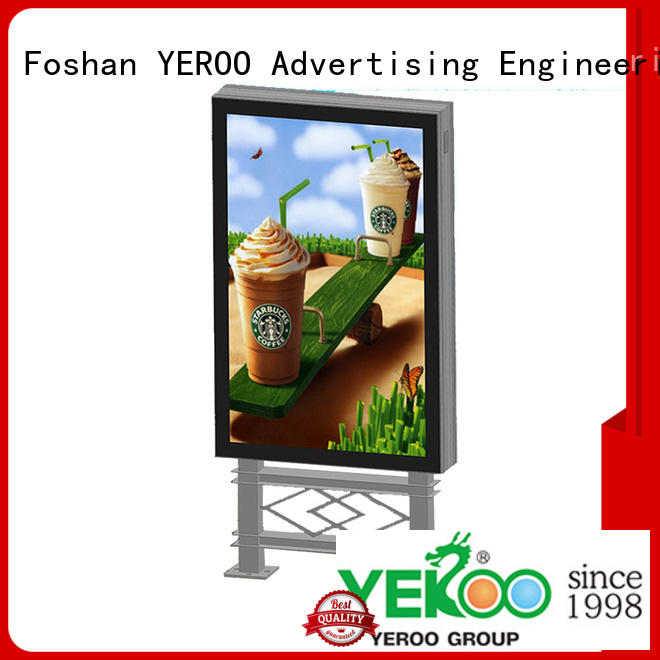YEROO hot-sale scrolling advertising light box aluminum for advertising