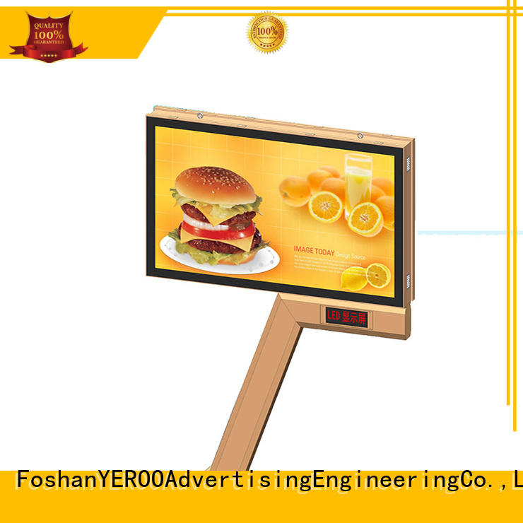 YEROO round shaped scrolling poster display advertising for city