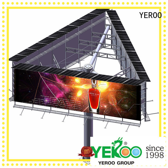 steel structure highway billboards supplier for city ads