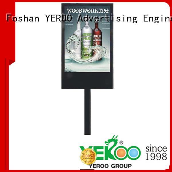 rotating digital light box trash for floor display YEROO