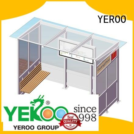 YEROO metal bus stop shelter order now for outdoor advertising