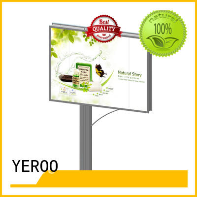 double backlit billboard highway outdoor advertising YEROO