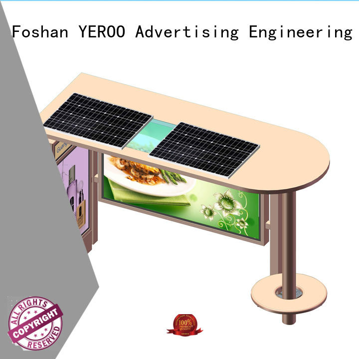 YEROO parking lot bus shelter advertising outdoor advertising for bus stop