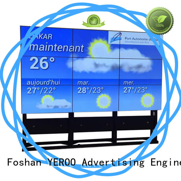 YEROO double sided digital display screen special-shape outdoor ad