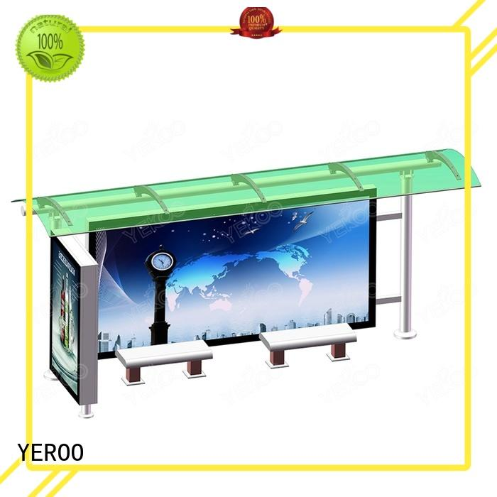 light box Bus Shelter stainless for outdoor advertising YEROO