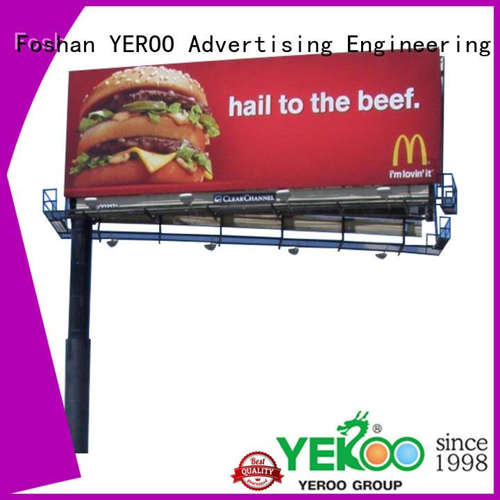 2019 steel structure outdoor billboard double side cantilever billboard