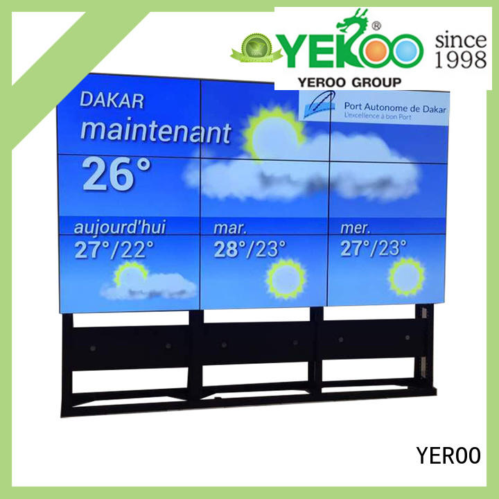 YEROO fast-installed video wall screen advertising