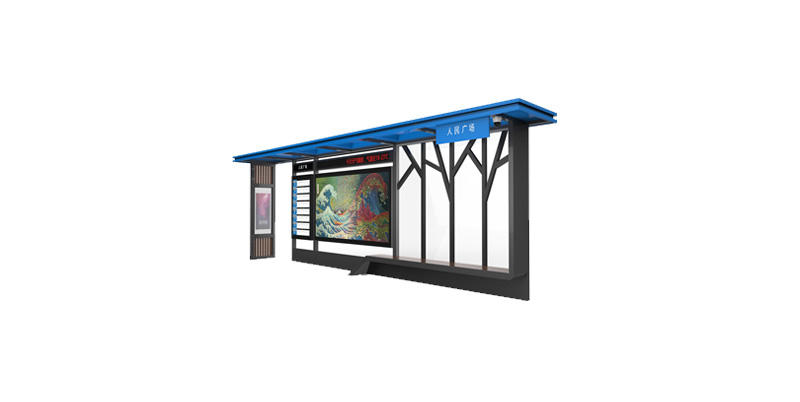 YEROO-Best Smart Bus Stop Outdoor Bus Forecasting Information Kiosk With Smart