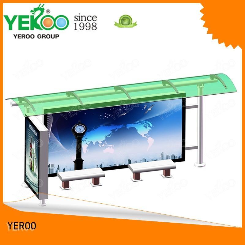YEROO bus shelter manufacturer light box for road