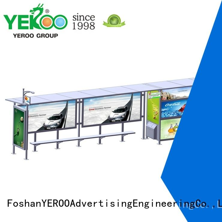 YEROO at discount bus shelter manufacturer stainless for station