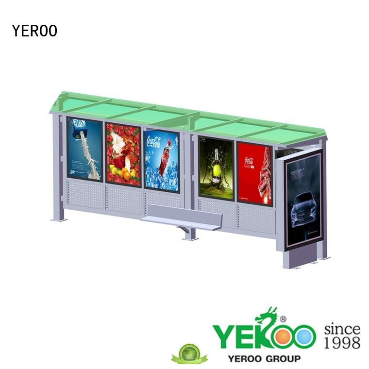 YEROO bus stop shed bulk supply for outdoor advertising