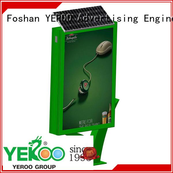 YEROO aluminum display light box free quote for advertising