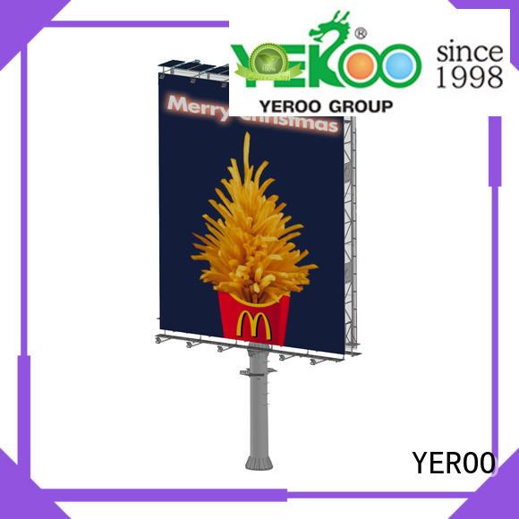 YEROO front light outdoor billboards unipole fro market