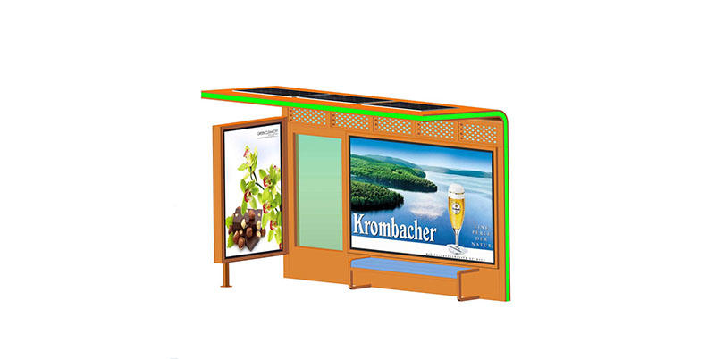 YEROO-Bus Shelter Advertising, Outdoor Customized Colar Advertising Solar Bus Stop