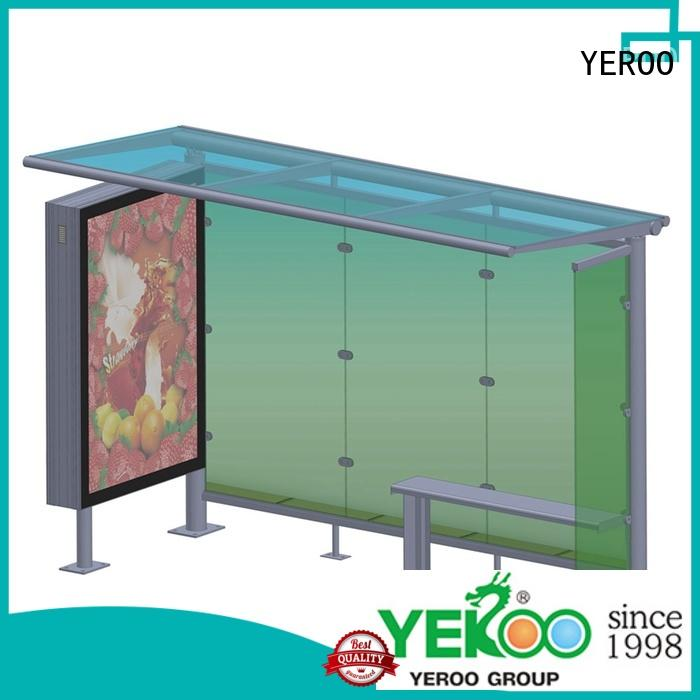 steel structure metal bus stop shelter bulk production for suburb YEROO