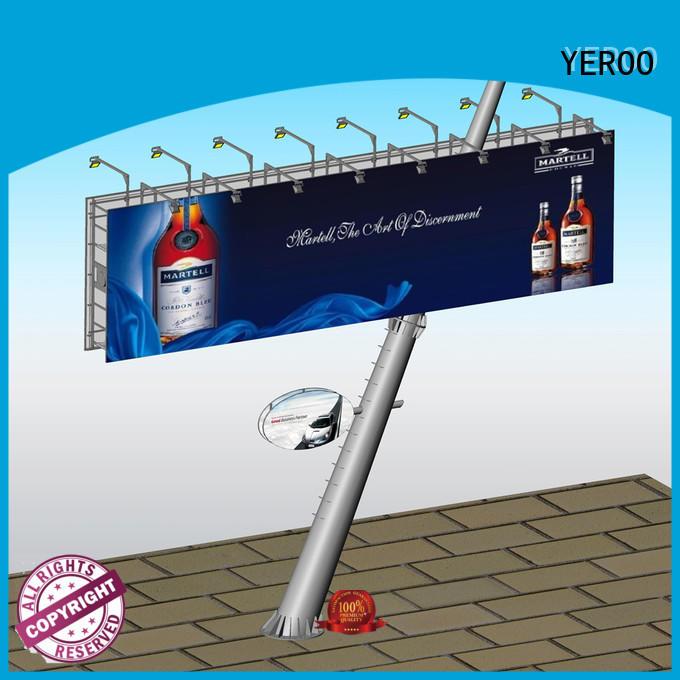 cantilever solar powered billboard metal for super mall YEROO