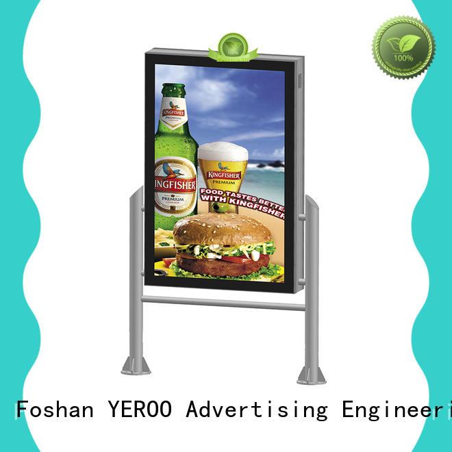 single box standing light box double sided for market YEROO