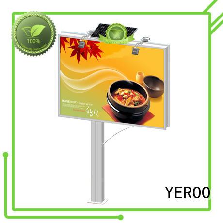 YEROO metal billboard structure for highway