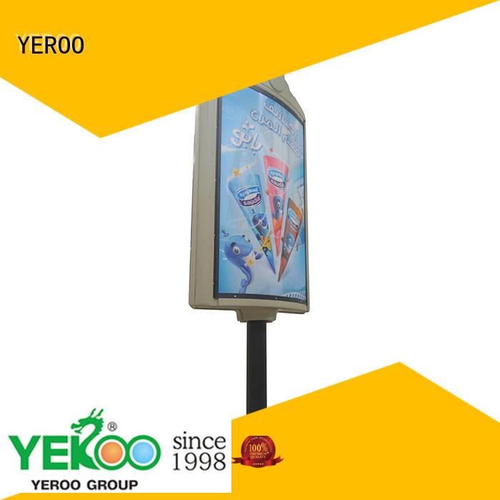 kiosk pole led display column for outdoor advertising YEROO