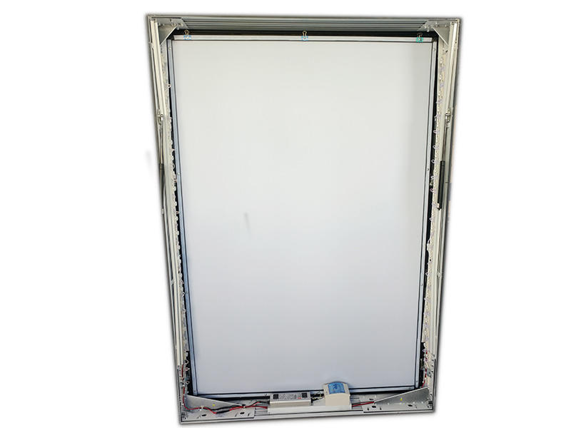 YEROO-Aluminum Light Box, Solar Powered Aluminum Light Box With Trash-2