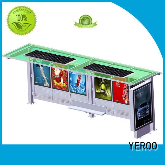 YEROO energy-saving solar bus stop shelter public furniture