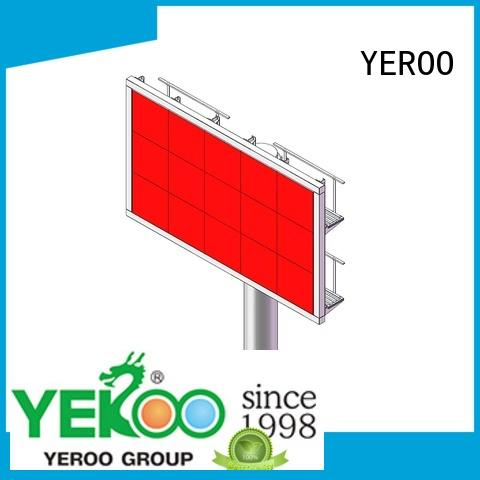 YEROO electronic billboard stainless steel for bus stop