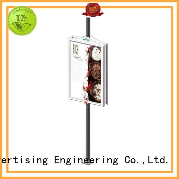 YEROO pole led display advertizing