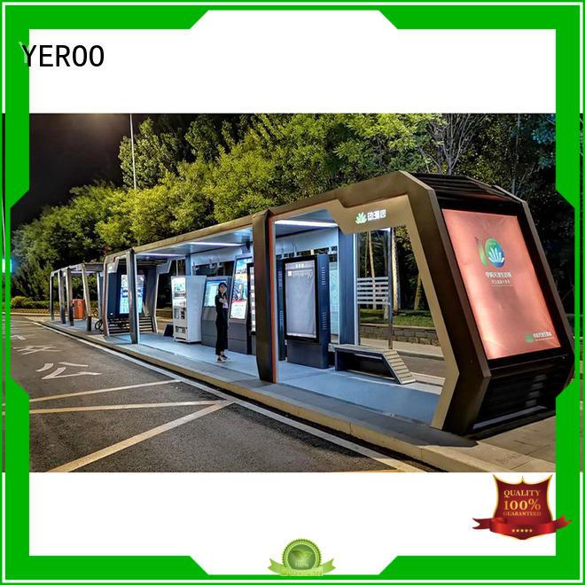 YEROO smart bus shelter metal