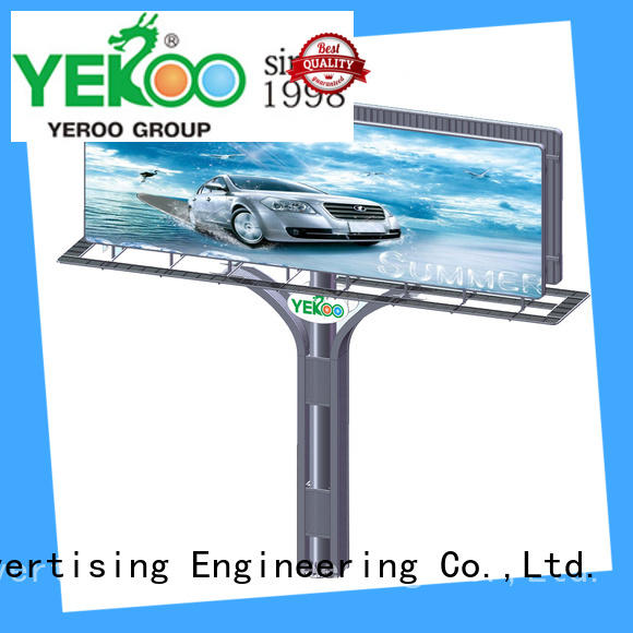 powered solar powered billboard powered for super mall YEROO