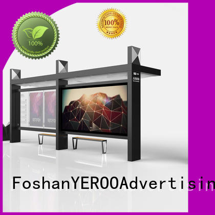 YEROO customized city bus shelter metal for road