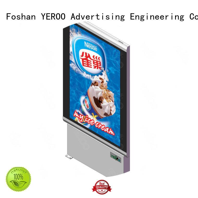YEROO stainless steel light box display rust-proof street advertising