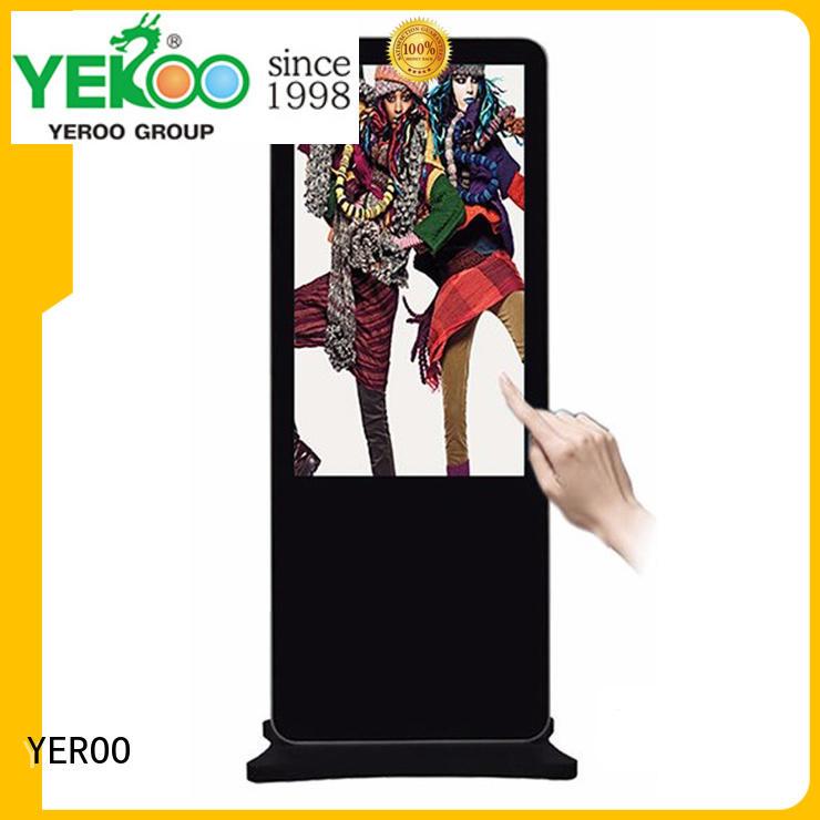 landscape digital signage kiosk lcd screen YEROO