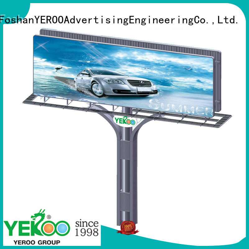 YEROO three-sided solar advertising billboard buy now fro market