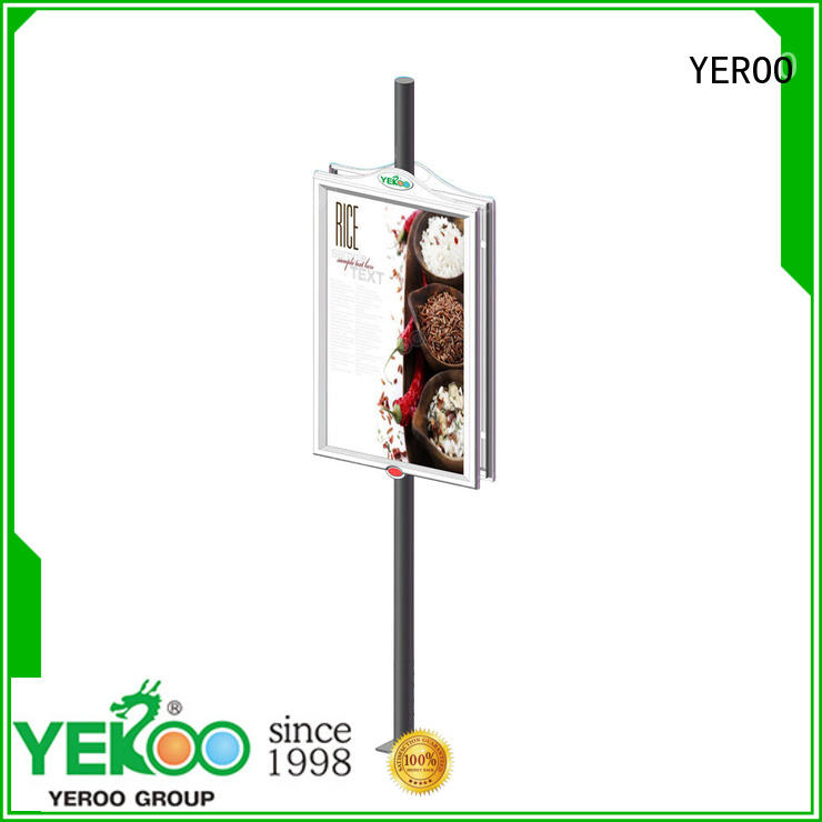 sided pole led display post for highway YEROO