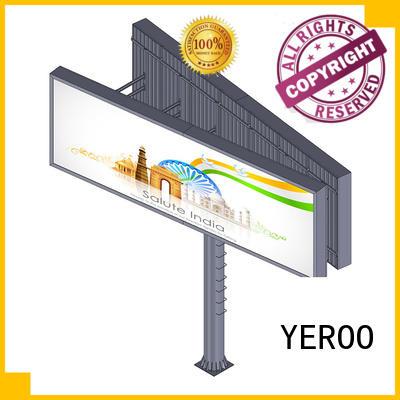 side backlit billboard shaped advertising YEROO