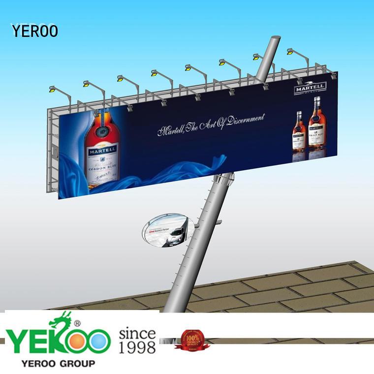 YEROO billboard stand customization service for super mall