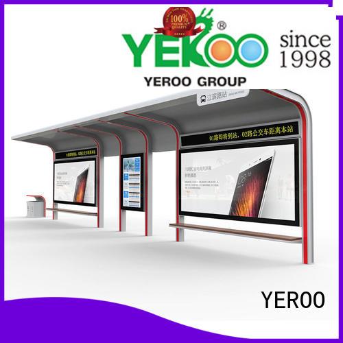 metal bus stop kiosk metal for outdoor YEROO