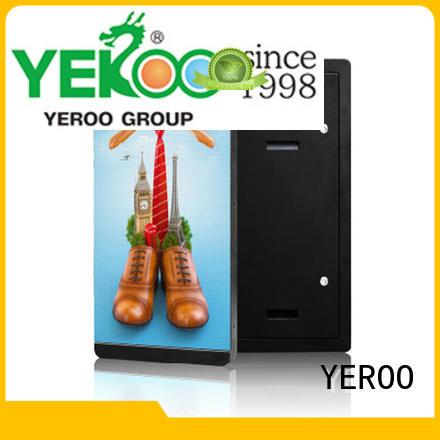digital led screen display advertising for floor display YEROO