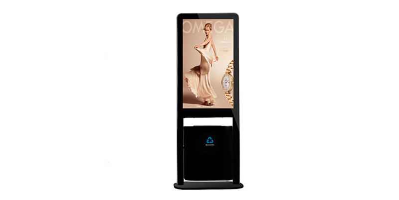 YEROO-Find Digital Signage Totem Indoor Lcd Display Screen With Trash Can |