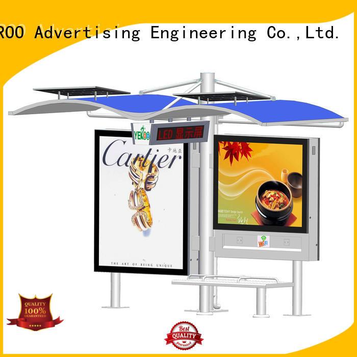 YEROO solar powered bus shelter outdoor advertising