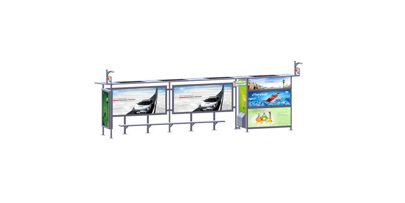 YEROO-Solar Powered Bus Shelter Manufacture | Outdoor Advertising Solar Bus Stop