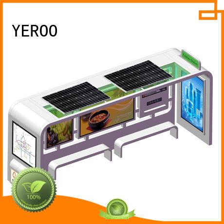 YEROO bus shelter advertising vending public furniture