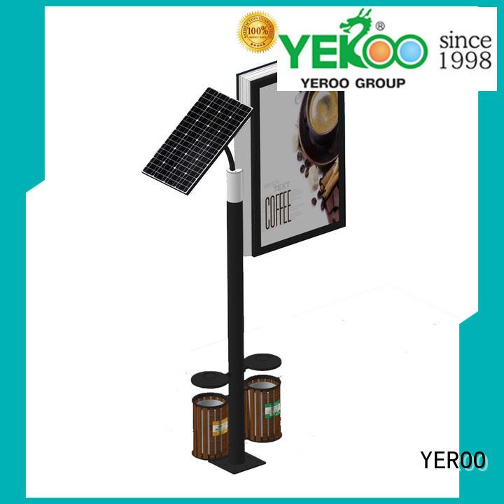 YEROO stainless steel solar light box free design for advertising