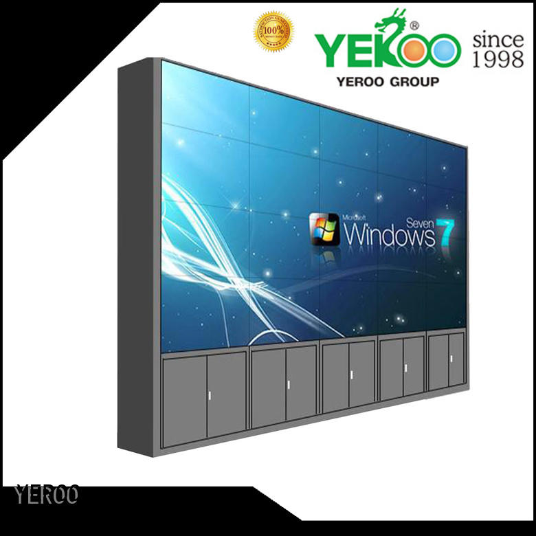 YEROO floor standing wall screen video profile advertising