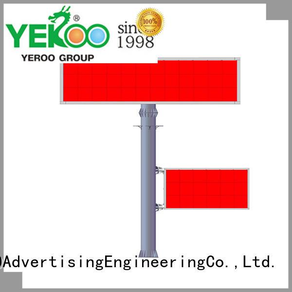 electronic advertising board shaped public furniture YEROO