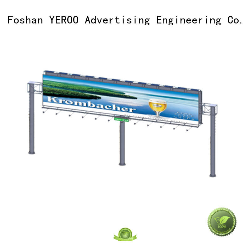 YEROO solar solar powered billboard lights supplier for highway