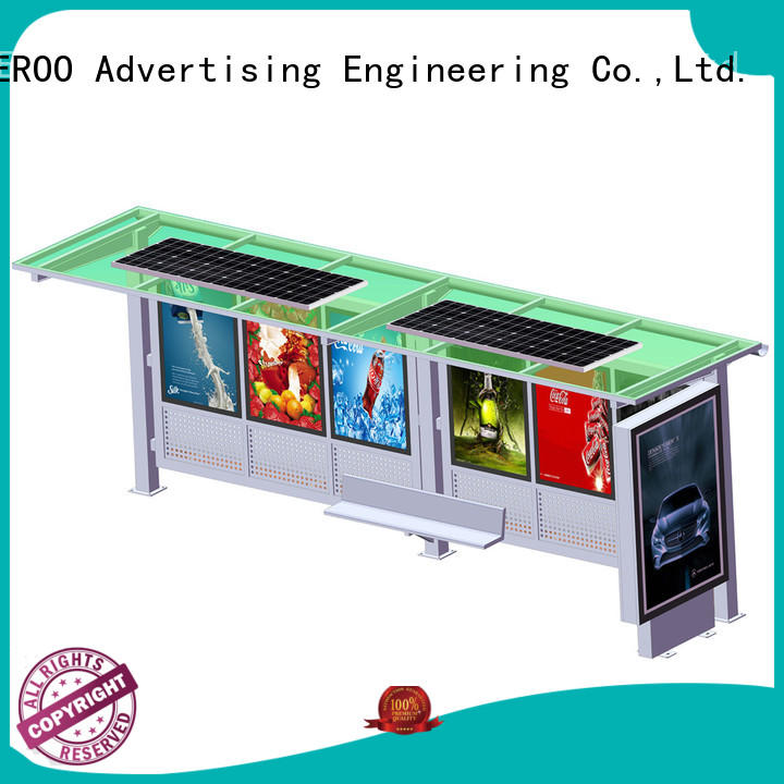 YEROO solar bus shelter customized color public furniture