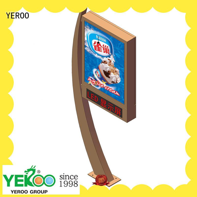 YEROO marketing mupi advertising free standing for super market