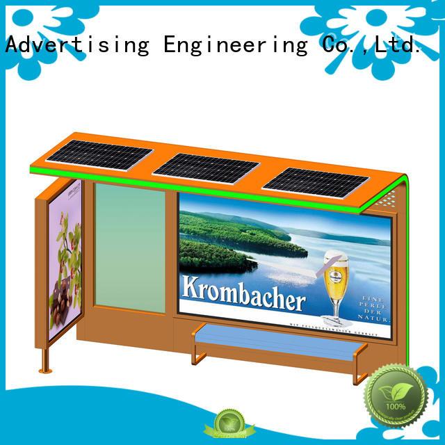 YEROO cost-efficient solar bus stop kiosk shelter for bus stop