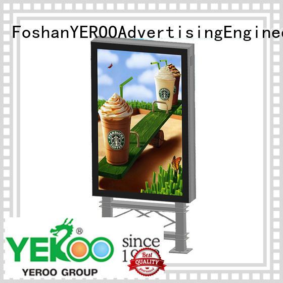 YEROO wholesale scrolling light box aluminium for street ads